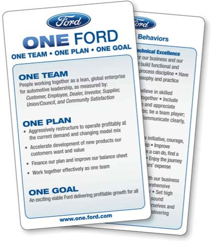 ford motors strategy leadership and strategic change Ford takes care of the cheaper cars with it's focus and escort, which go for $11,000-12,500 the explorer is the most purchased suv in the world, probably because it's right in the price range of most working americans at $16,000-35,000 (except for teachers of course.